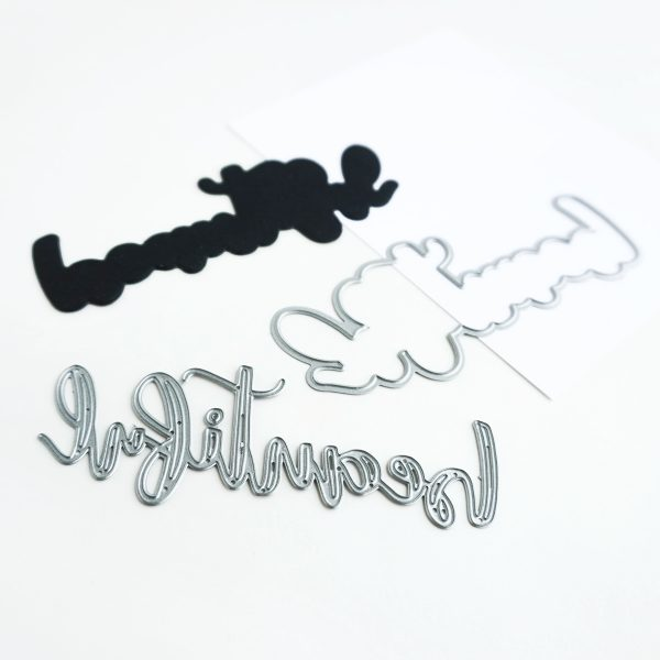 Hand lettered word die