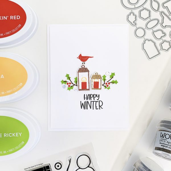 Happy Winter card with luminaries
