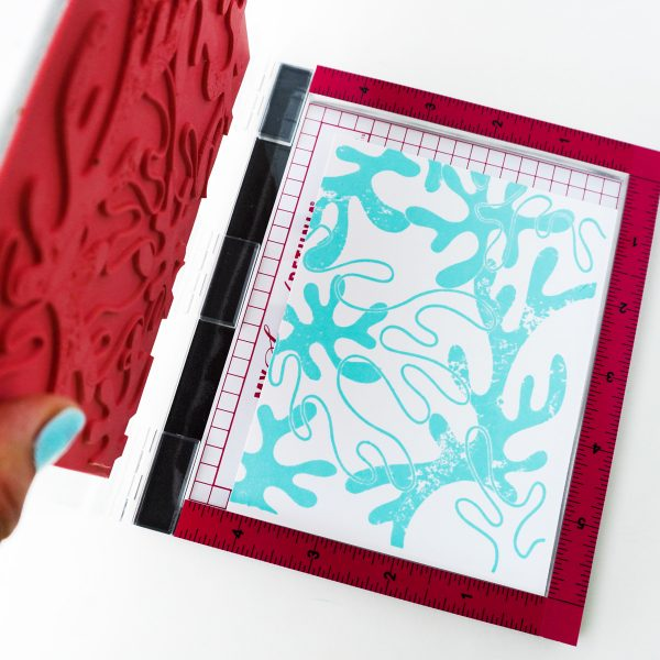 background stamp of abstract coral pattern