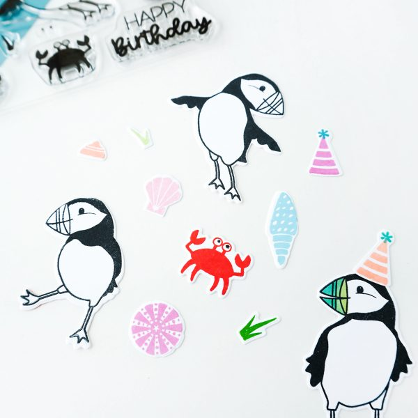 puffin images stamped out