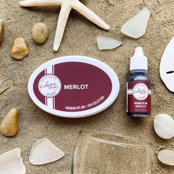 Merlot deep red ink pad in sand
