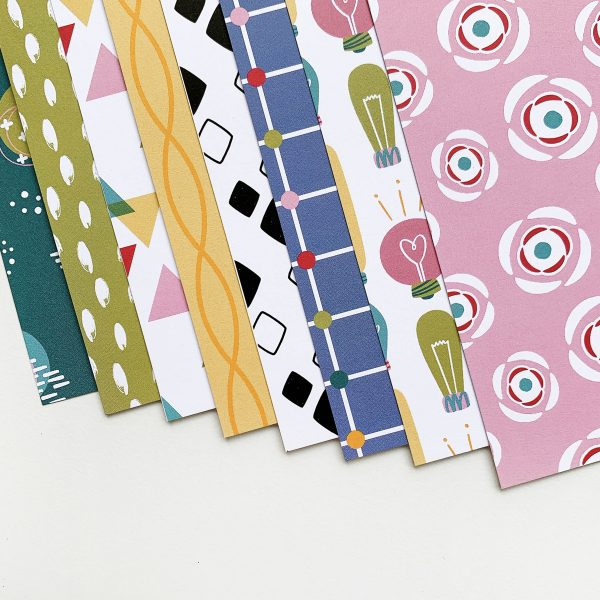 patterned paper in abstract designs