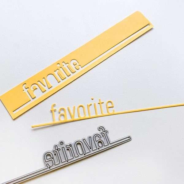 word die of the word favorite