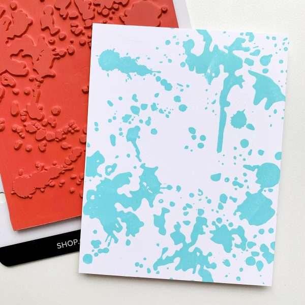 ink splatter design background stamped image
