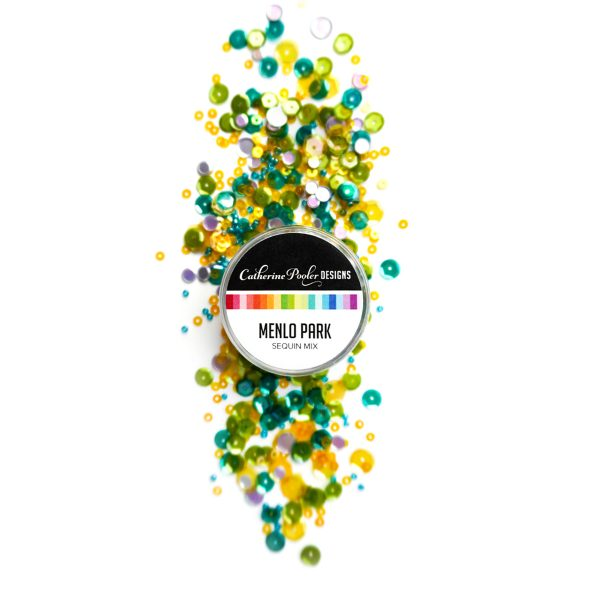 green and yellow sequin mix
