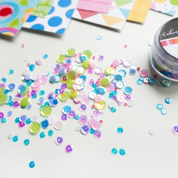 bright pink, green and blue sequin mix