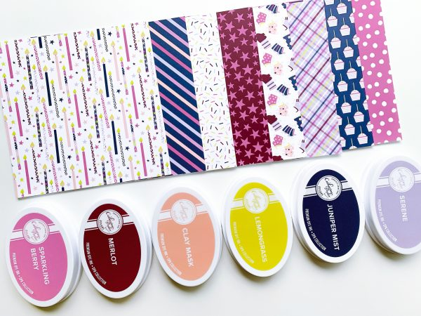 patterned paper and ink pads